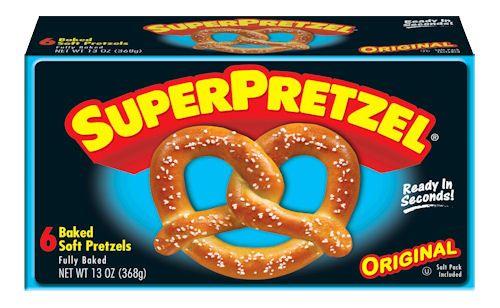 Save $.50 on any ONE SUPERPRETZEL Soft Pretzel Product