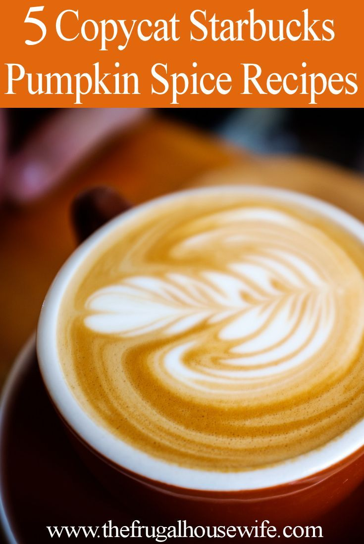 5 Copycat Starbucks Pumpkin Spice Recipes