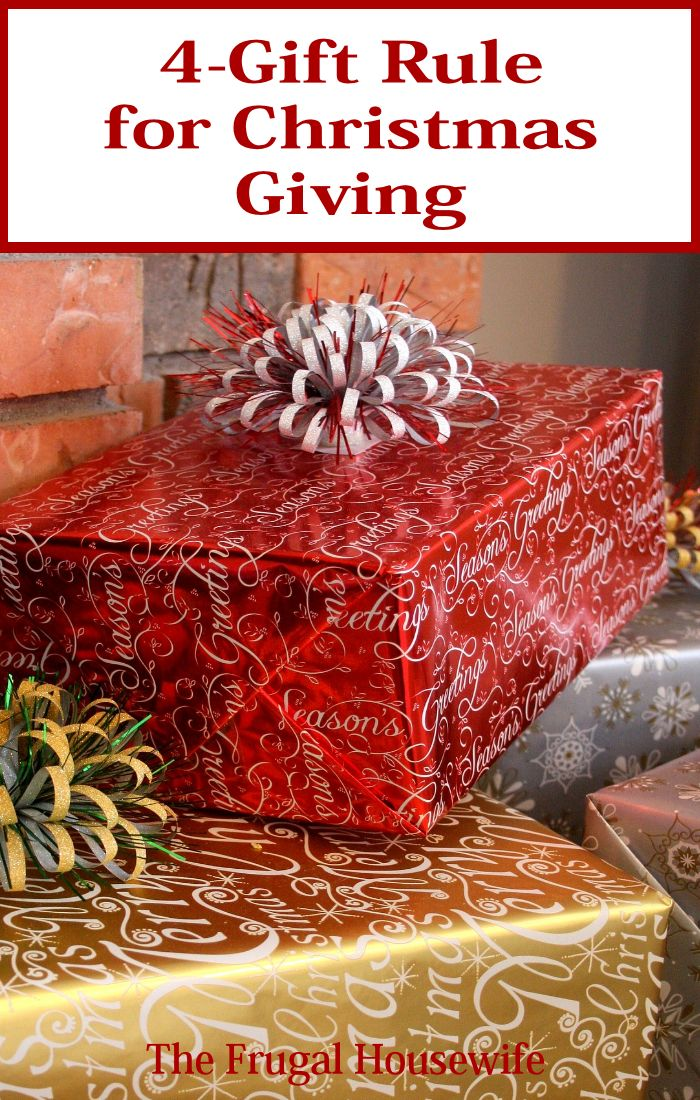4 Gift Rule for Christmas Giving