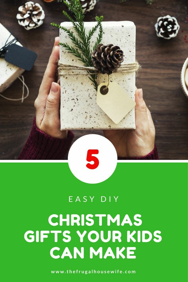 5 Easy DIY Christmas Gifts Your Kids Can Make