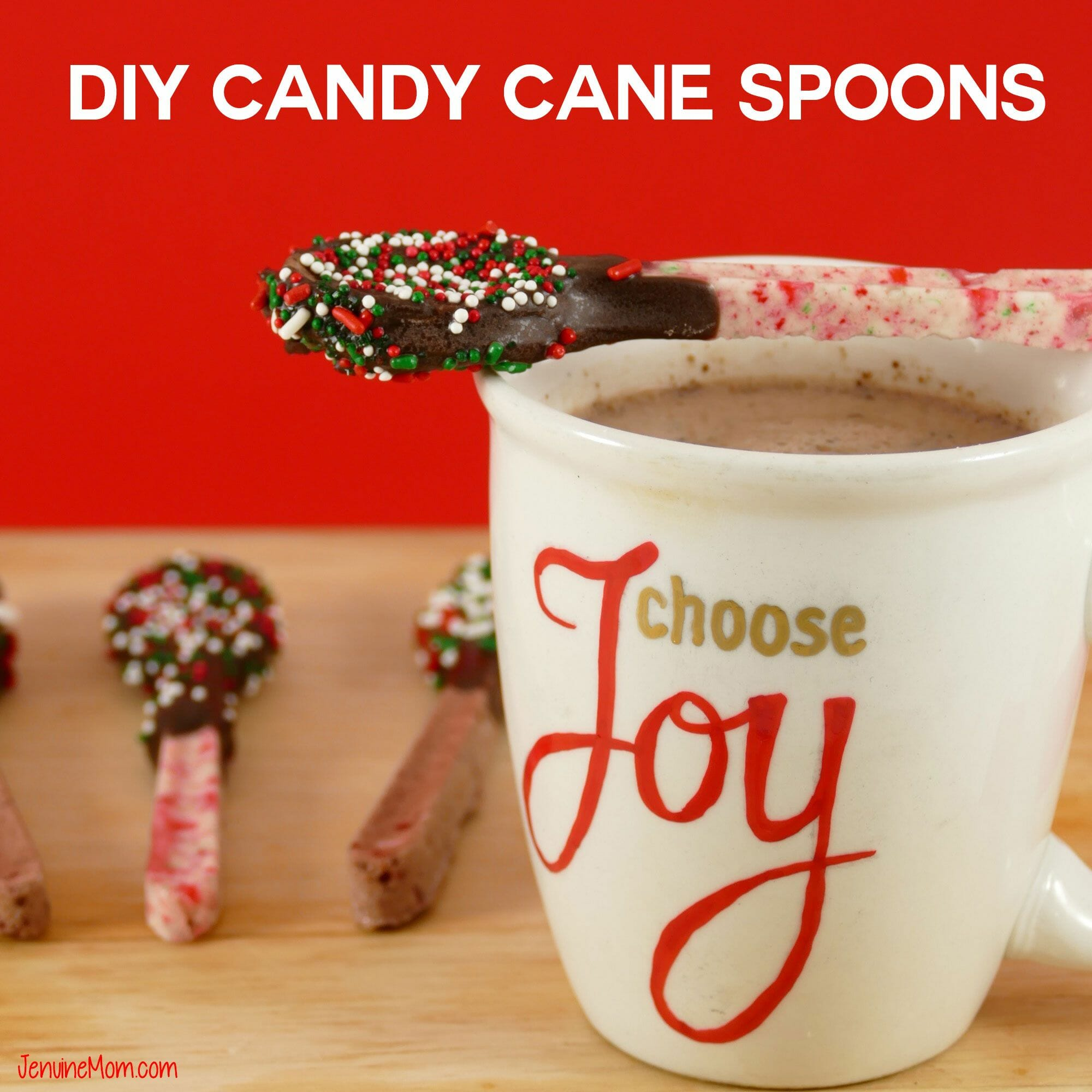 DIY Candy Cane Spoons by Jennifer Makes