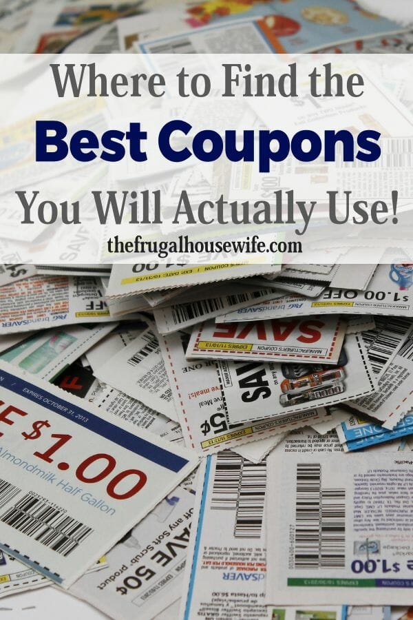 Where to get the Best Coupons by The Frugal Housewife